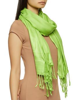 Green Pashmina Scarf - 1132051441814