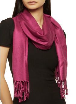 Purple Pashmina Scarf - 1132051441830