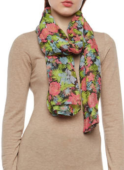 Tropical Floral Scarf - 1132067448046