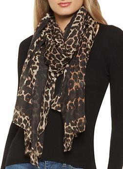 Leopard Print Scarf - 1132067448071