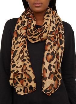 Leopard Oblong Scarf - 1132067449063