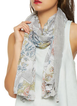 Printed Lightweight Scarf - 1132074391202