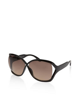 Criss Cross Plastic Sunglasses - 1133004260006