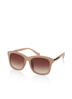 Plastic Metallic Detail Sunglasses - 1133004260015