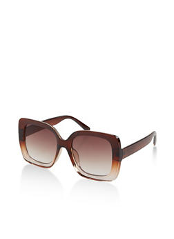 Large Plastic Square Sunglasses - 1133004260067