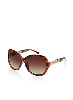 Metallic Chain Detail Sunglasses - 1133004260080