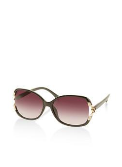 Open Side Plastic Sunglasses - 1133004265491