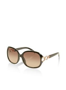 Cut Out Side Plastic Sunglasses - 1133004269188