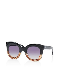 Two Tone Plastic Sunglasses - 1133056179155
