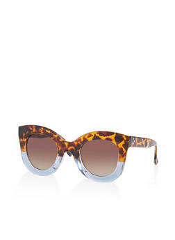 Two Tone Plastic Sunglasses - 1133056179155