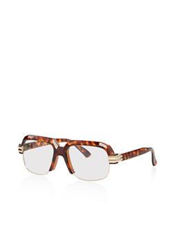 Plastic Frame Clear Glasses - 1133071210041