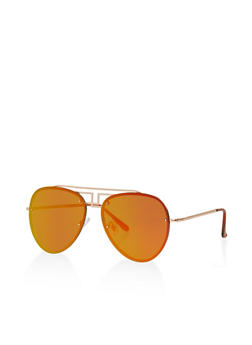 Mirrored Aviator Sunglasses - 1133071210584