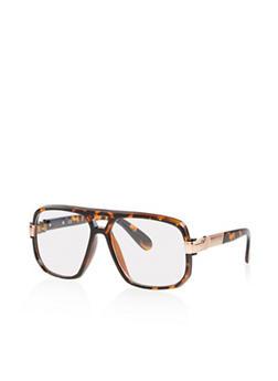 Plastic Frame Clear Glasses - 1133071214002