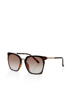 Geometric Metallic Detail Sunglasses - 1133071222849