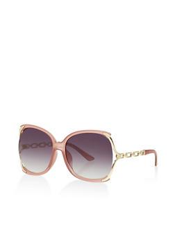 Open Side Plastic Sunglasses - 1133073211000