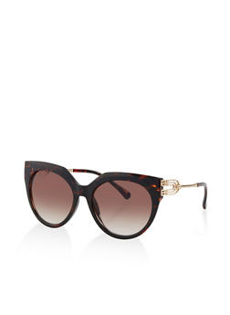 Metallic Detail Cat Eye Sunglasses - 1133073213000