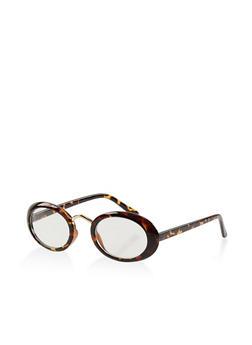 Plastic Oval Glasses - 1133073216997