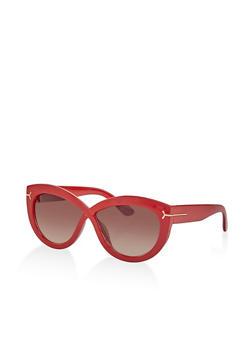 Plastic Criss Cross Sunglasses - 1133073219200