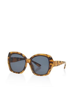 Large Plastic Square Sunglasses - 1133073219444