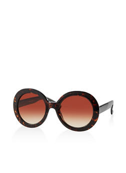 Round Plastic Colored Sunglasses - 1134004260452