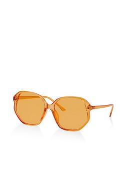 Geometric Plastic Colored Sunglasses - 1134004260509