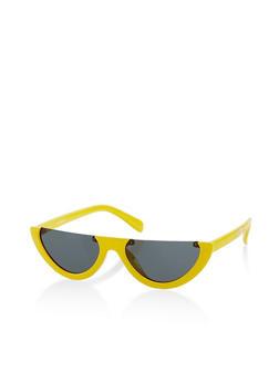 Colored Half Rim Glasses - 1134004260525