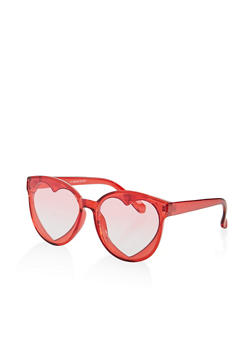 Plastic Heart Lens Sunglasses - 1134004260553