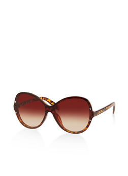 Shield Rimless Sunglasses - 1134004260558