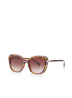 Etched Detail Cat Eye Sunglasses - 1134004260937
