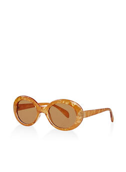 Marbled Plastic Sunglasses - 1134004260996