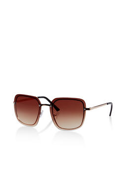 Rimless Metallic Nose Sunglasses - 1134004261083