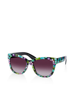 Flower Print Sunglasses - 1134004265413