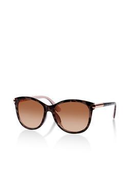 Metallic Tip Cat Eye Sunglasses - 1134004265418