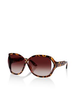 Cut Out Side Criss Cross Sunglasses - 1134004265555