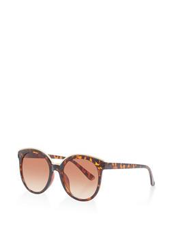 Textured Trim Sunglasses - 1134056170773