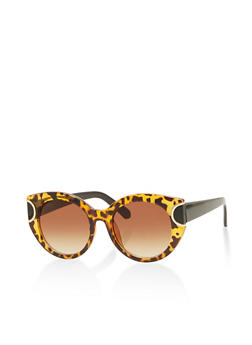 Large Round Tinted Sunglasses - 1134056172453