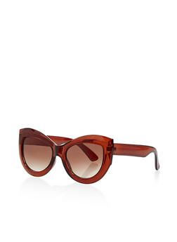 Thick Frame Cat Eye Sunglasses - 1134056175687