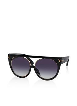 Plastic Top Bar Sunglasses - 1134056176557