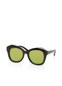 Mirrored Geometric Sunglasses - 1134056177573