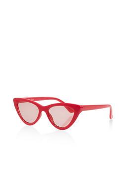 Small Colored Cat Eye Sunglasses - 1134056179154