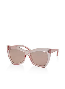 Large Cat Eye Sunglasses - 1134056179156