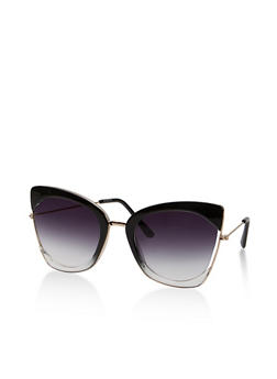 Cut Out Edge Cat Eye Sunglasses - 1134056179185