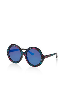 Round Printed Sunglasses - 1134056179186