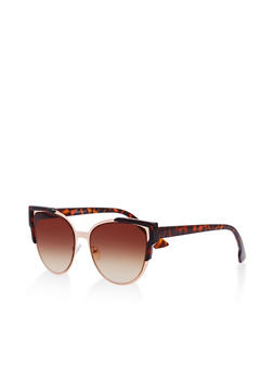 Metallic Cat Eye Sunglasses - 1134071210450