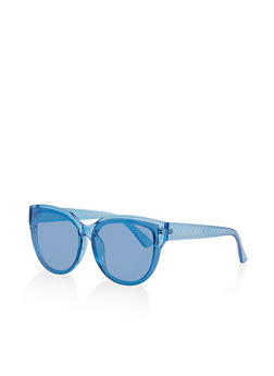 Textured Arm Detail Sunglasses - 1134071210607
