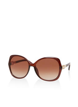 Faux Pearl Studded Sunglasses - 1134071211006