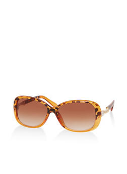 Faux Pearl Detail Sunglasses - 1134071211008