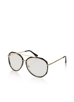 Metallic Top Bar Aviator Glasses - 1134071212000