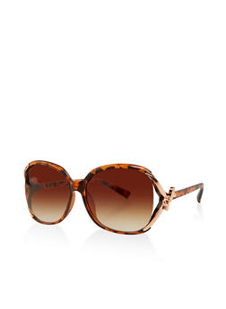 Metallic Bow Arm Detail Sunglasses - 1134071212340
