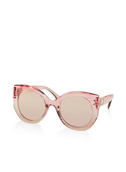 Mirrored Ombre Cat Eye Sunglasses - 1134071214610